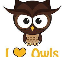 I heart Owls by Eggtooth