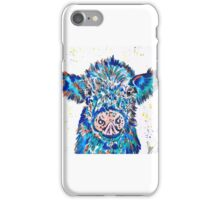 BLUE MOO COW  iPhone Case/Skin