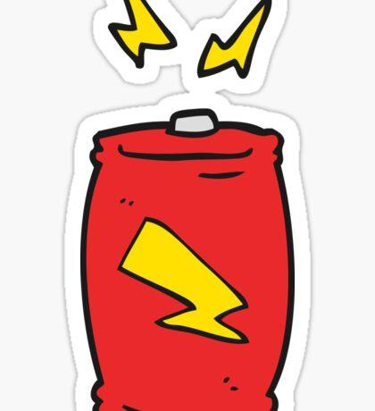 cartoon battery Sticker