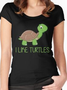 I Like Turtles Women's Fitted Scoop T-Shirt
