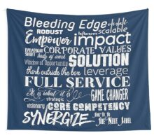 Corporate Buzzwords Business Jargon Typography Art Wall Tapestry