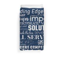 Corporate Buzzwords Business Jargon Typography Art Duvet Cover