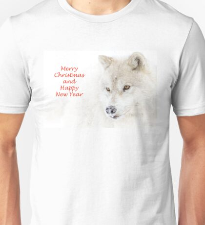 Christmas Arctic wolf Unisex T-Shirt