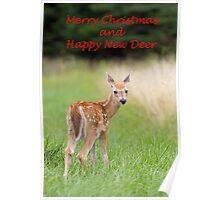 Christmas fawn Poster