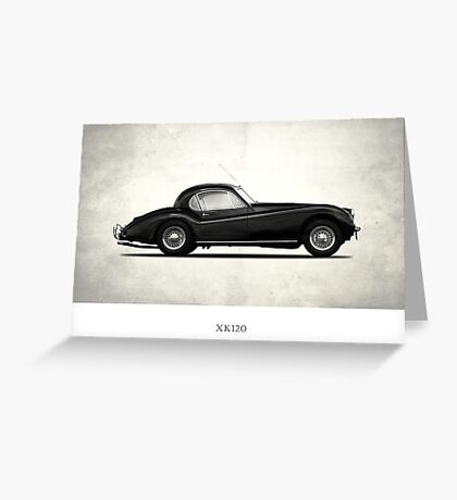 The 1954 XK120 Greeting Card