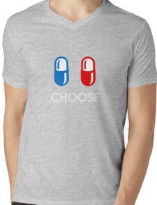 red pill or blue pill - choose - (enter the matrix) Mens V-Neck T-Shirt