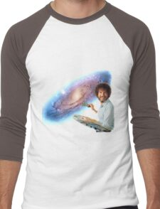 The Bob Ross Galaxy Men's Baseball ¾ T-Shirt