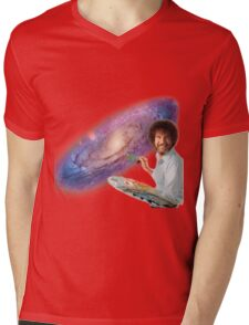 The Bob Ross Galaxy Mens V-Neck T-Shirt