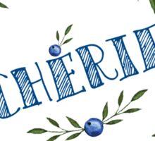 Watercolor Blue berris  branches wreath Sticker