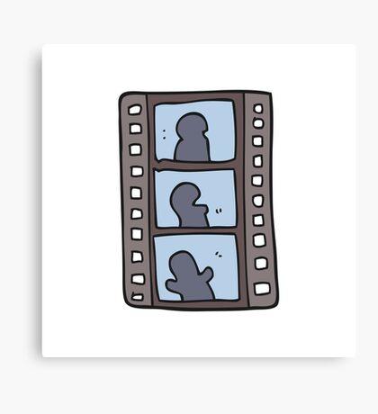 cartoon film strip Canvas Print