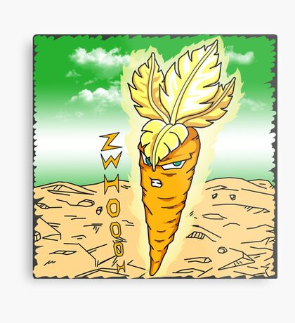 Carrot Super Saiyan Metal Print