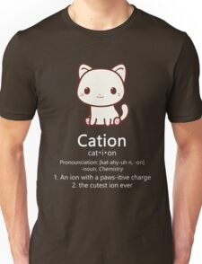 Cute Science Cat T-Shirt Kawaii Cation Chemistry Pawsitive Unisex T-Shirt