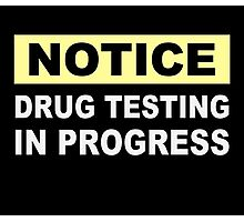 Drug Testing in Progress Photographic Print