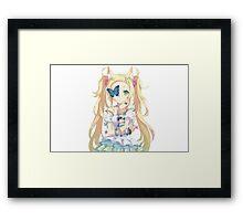 cute anime Framed Print