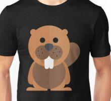 Funny brown beaver Unisex T-Shirt
