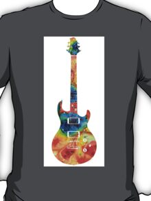 Colorful Electric Guitar 2 - Abstract Art By Sharon Cummings T-Shirt