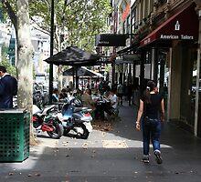 Busy Bourke street, Melbourne by Maggie Hegarty