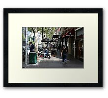 Busy Bourke street, Melbourne Framed Print