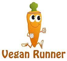 Vegan Runner, running carrot by Eggtooth