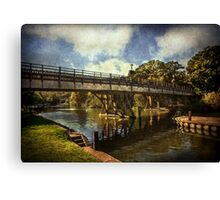 Goring on Thames Bridge Canvas Print