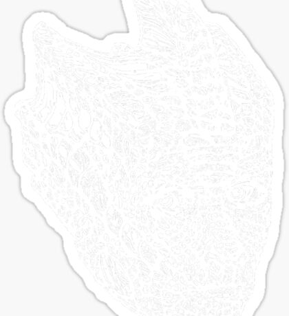 Madame Vastra (whiteline) Sticker