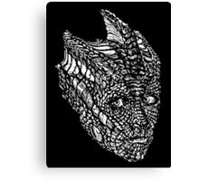 Madame Vastra (whiteline) Canvas Print