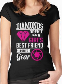 Photography: Diamonds? I prefer gear! Women's Fitted Scoop T-Shirt