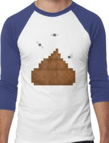 Pixel poo Men's Baseball ¾ T-Shirt