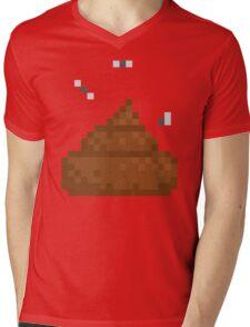 Pixel poo Mens V-Neck T-Shirt