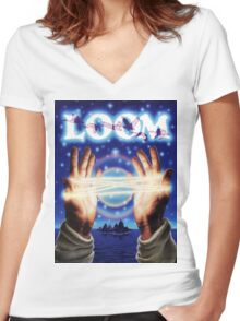 Loom Women's Fitted V-Neck T-Shirt