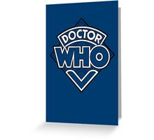 Doctor Who Diamond Logo Blue White Lines. Greeting Card