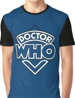 Doctor Who Diamond Logo Blue White Lines. Graphic T-Shirt