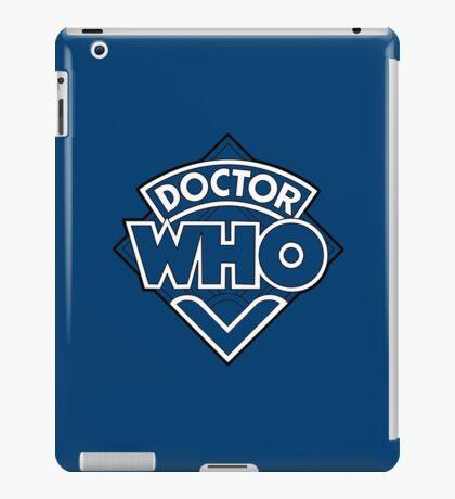 Doctor Who Diamond Logo Blue White Lines. iPad Case/Skin