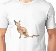 Tricolor Staring Cat Unisex T-Shirt