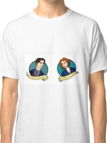 X-Files, Mulder + Scully Classic T-Shirt