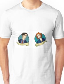 X-Files, Mulder + Scully Unisex T-Shirt
