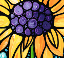 Standing Tall - Sunflower Art By Sharon Cummings Sticker