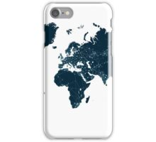 Communications network map  iPhone Case/Skin