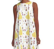 Beauty & The Beast Pattern A-Line Dress