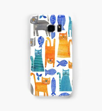 Crazy cats Samsung Galaxy Case/Skin