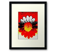 white and black flower Framed Print