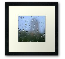 mystic silhouette of city Framed Print