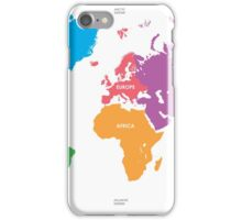 Continents World Map iPhone Case/Skin