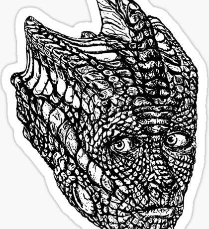 Madame Vastra (blackline) Sticker