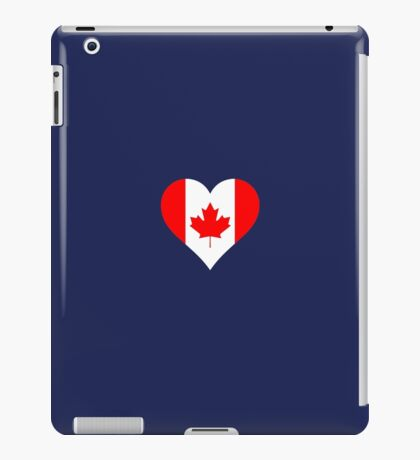 Canada Heart Flag Canadian Love iPad Case/Skin