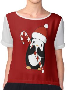 Christmas Penguin  Chiffon Top