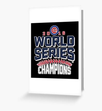 Chicago Cubs Champion World Series 2016 Greeting Card