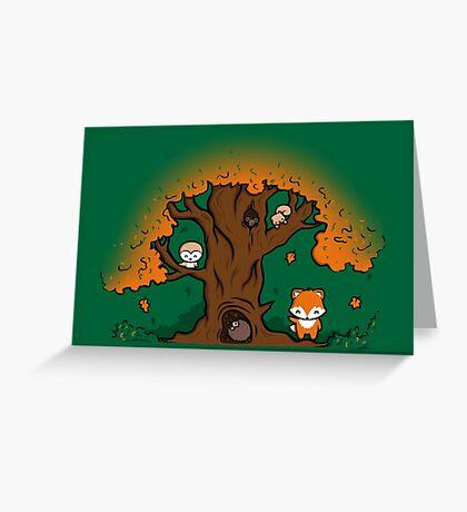 Autumn Friends Greeting Card