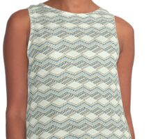 Abstract geometric isometric seamless pattern Contrast Tank