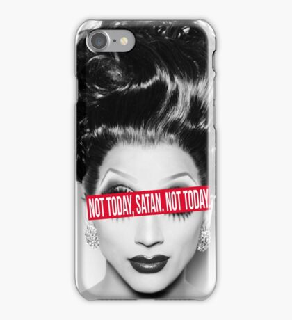 Not today, Satan. Not today. iPhone Case/Skin